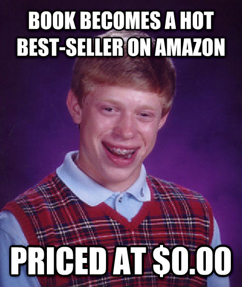 Bad Luck Brian book becomes a hot best-seller on amazon priced at $0.00 , made with livememe meme maker