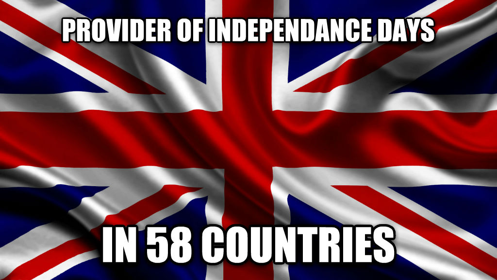 Good guy UK provider of independance days in 58 countries , made with livememe meme maker