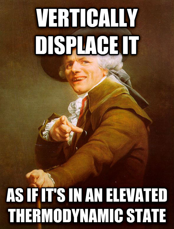 Joseph Ducreux vertically displace it  as if it s in an elevated thermodynamic state , made with livememe meme generator