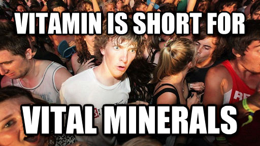 Sudden Clarity Clarence vitamin is short for vital minerals , made with livememe meme maker