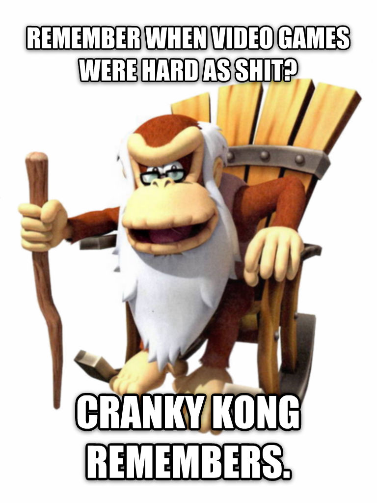 Cranky Kong Remembers remember when video games were hard as poop? cranky kong remembers. , made with livememe meme generator