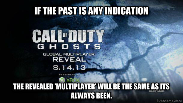 untitled meme if the past is any indication the revealed  multiplayer  will be the same as its always been. , made with livememe meme creator