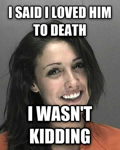 Ridiculously Photogenic Prison Inmate i said i loved him to death i wasn t kidding , made with livememe meme creator
