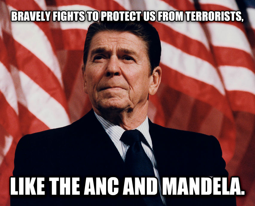 untitled meme bravely fights to protect us from terrorists, like the anc and mandela. , made with livememe meme maker