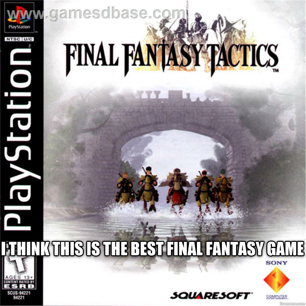 untitled meme i think this is the best final fantasy game  , made with livememe meme creator