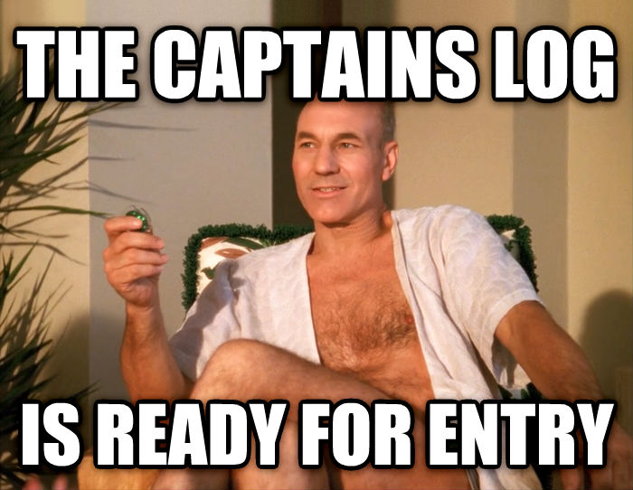 Sensual Picard the captains log is ready for entry , made with livememe meme generator