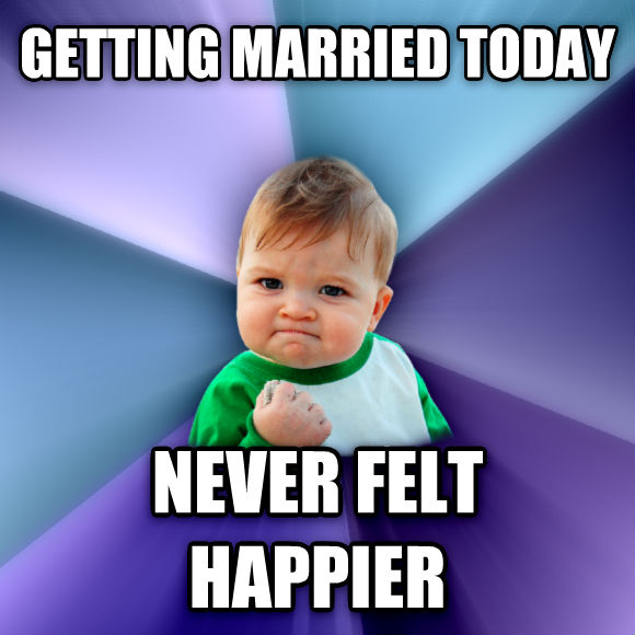 Success Kid getting married today never felt happier  , made with livememe meme generator