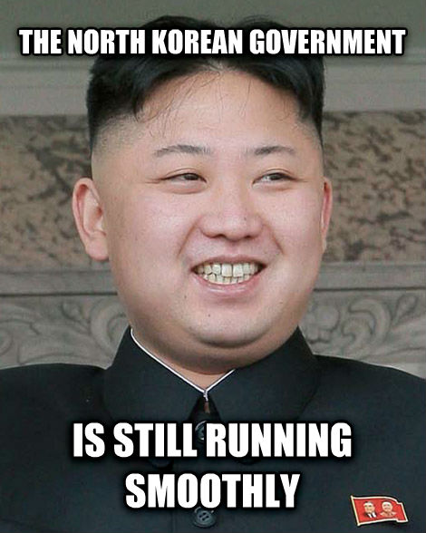 kim the north korean government is still running smoothly , made with livememe meme generator