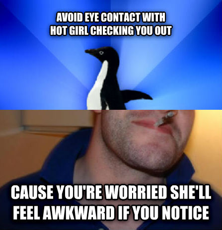 why would a guy avoid eye contact with you