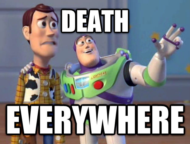 Toy Story Everywhere death everywhere , made with livememe meme generator