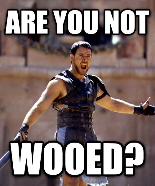 Maximus - Are You Not Entertained? are you not wooed? , made with livememe meme generator