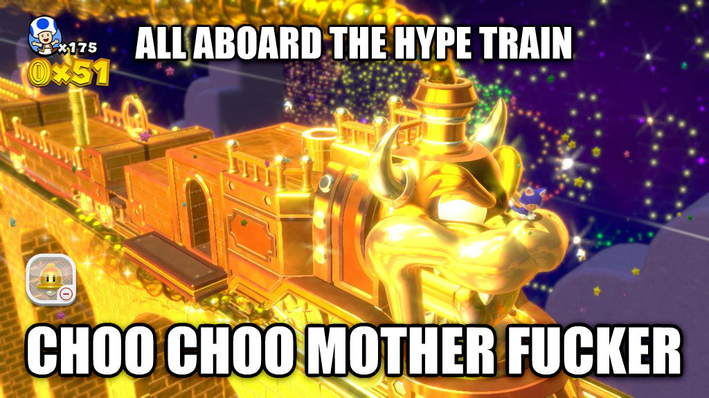 Hype Train all aboard the hype train choo choo vexing mortal , made with livememe meme generator