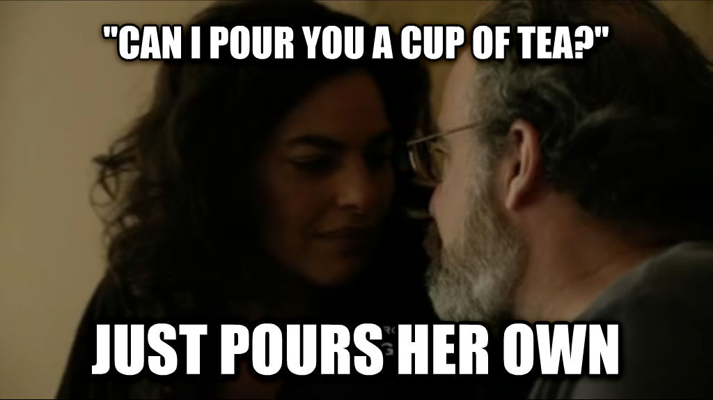 Scumbag Mira  can i pour you a cup of tea?  just pours her own , made with livememe meme maker