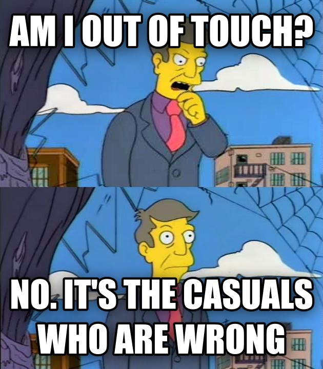 Am I Out Of Touch? No, It s The Children Who Are Wrong am i out of touch? no. it s the casuals who are wrong , made with livememe meme maker