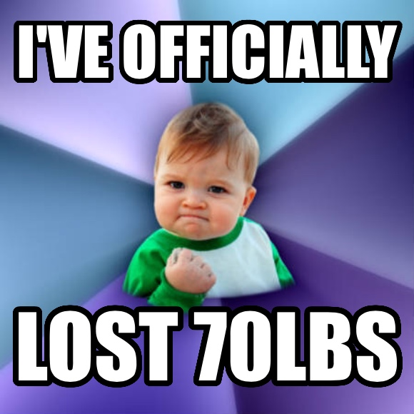 Success Kid i ve officially  lost 70lbs   , made with livememe meme maker