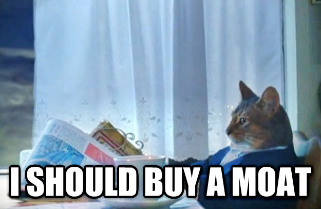 Sophisticated Cat  i should buy a moat , made with livememe meme generator