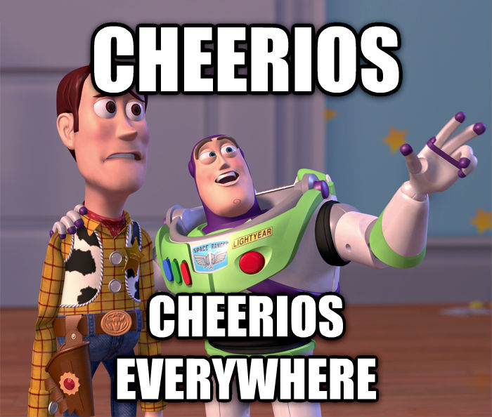Toy Story Everywhere cheerios cheerios everywhere , made with livememe meme maker