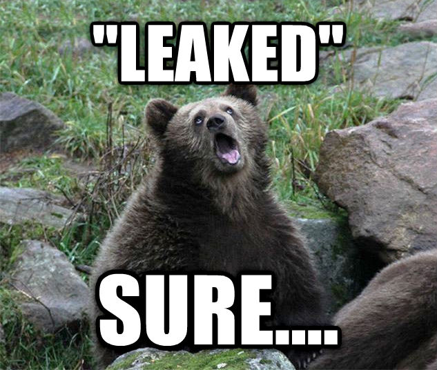 Sarcastic Bear  leaked  sure.... , made with livememe meme generator