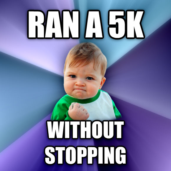 Success Kid ran a 5k without stopping  , made with livememe meme creator