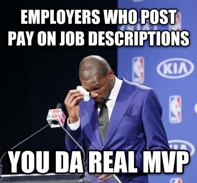 You Da Real MVP. employers who post pay on job descriptions you da real mvp , made with livememe meme maker