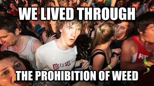 Sudden Clarity Clarence we lived through the prohibition of wood , made with livememe meme generator