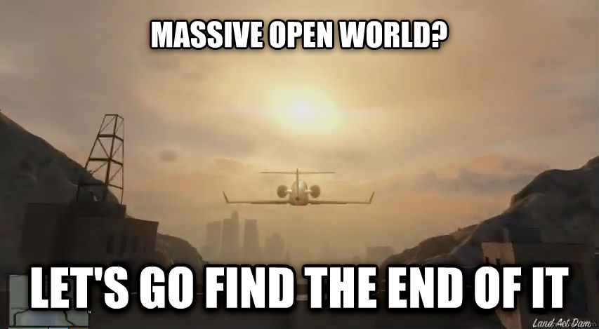 untitled meme massive open world? let s go find the end of it , made with livememe meme maker