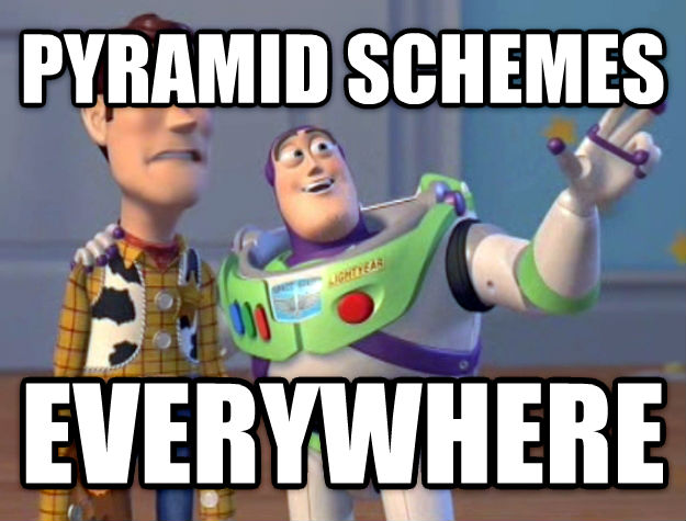 Toy Story Everywhere pyramid schemes everywhere , made with livememe meme generator
