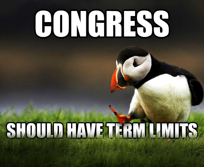 Unpopular Opinion Puffin congress should have term limits , made with livememe meme maker