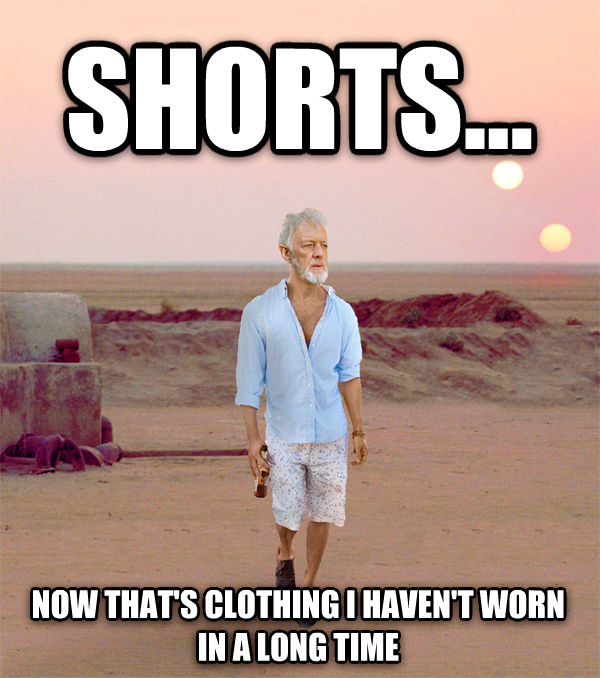 Obi Wan Shorts shorts... now that s clothing i haven t worn in a long time , made with livememe meme creator