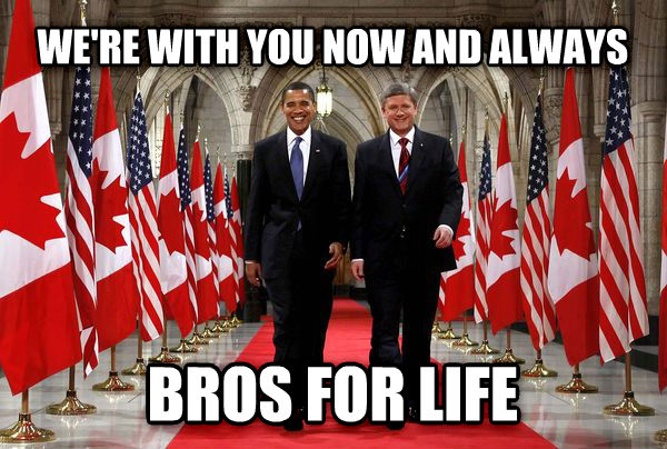 obama harper we re with you now and always bros for life , made with livememe meme generator