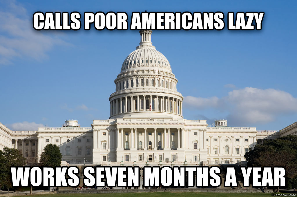 untitled meme calls poor americans lazy works seven months a year , made with livememe meme generator
