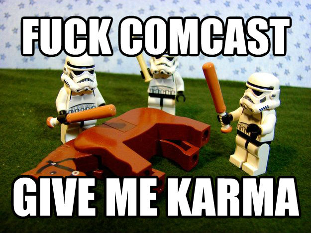 Give Me Karma flip comcast give me karma , made with livememe meme creator