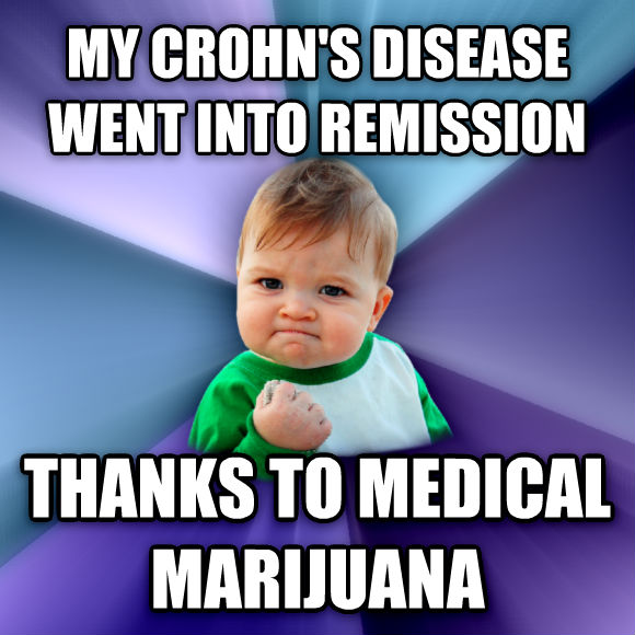 Success Kid my crohn s disease went into remission thanks to medical marijuana  , made with livememe meme generator