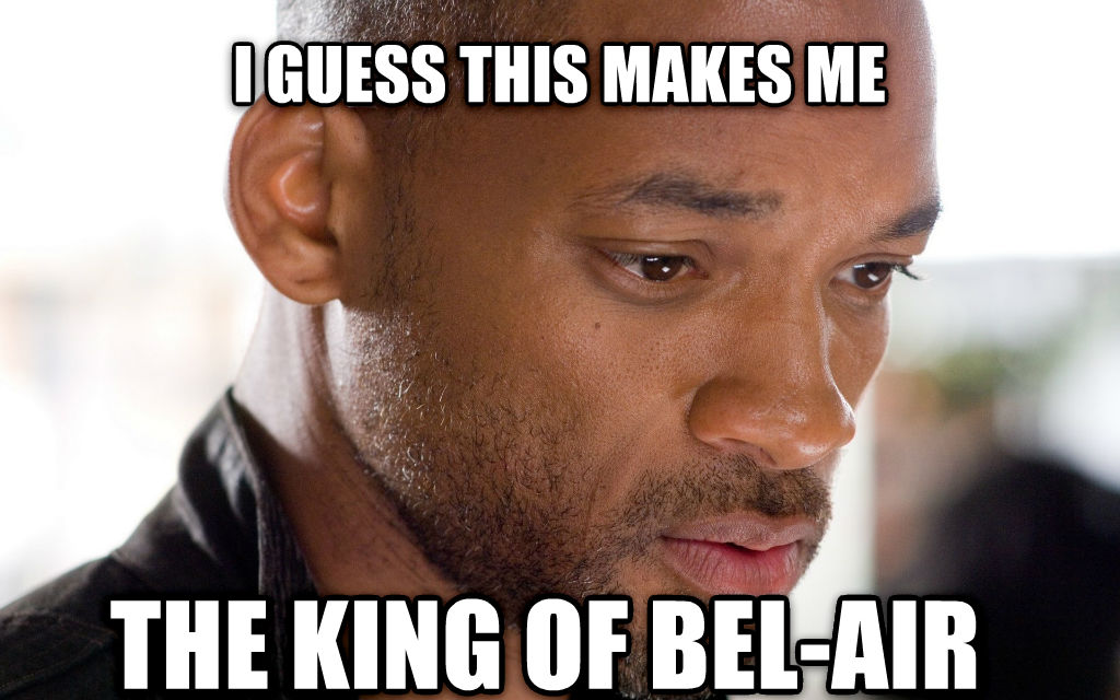 Sad Will Smith i guess this makes me the king of bel-air , made with livememe meme maker