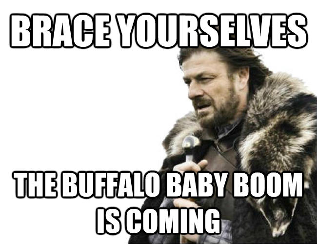 Imminent Ned / Brace Yourselves brace yourselves the buffalo baby boom is coming , made with livememe meme maker