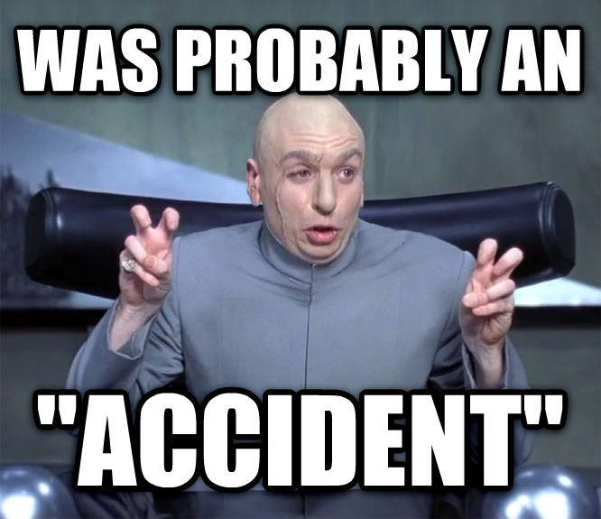 Dr. Evil  Quotation Marks  was probably an  accident  , made with livememe meme maker