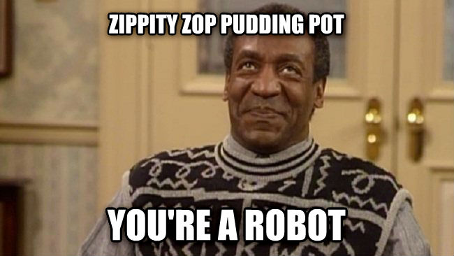 zippity zop zippity zop pudding pot you re a robot , made with livememe meme maker
