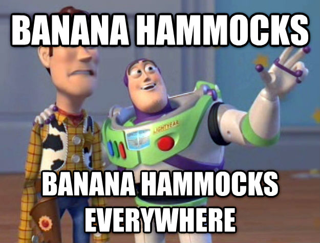 Toy Story Everywhere banana hammocks banana hammocks everywhere , made with livememe meme generator
