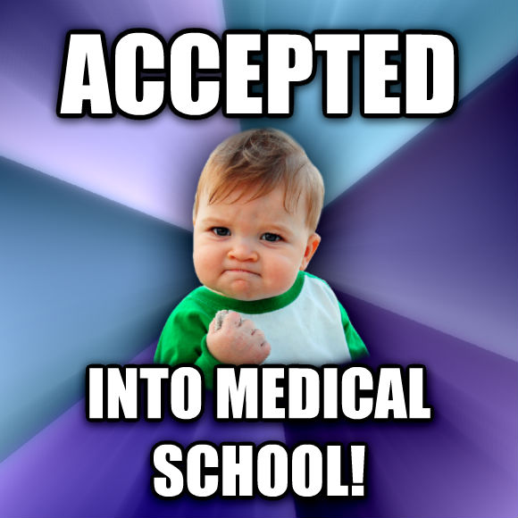 Success Kid accepted into medical school!  , made with livememe meme maker