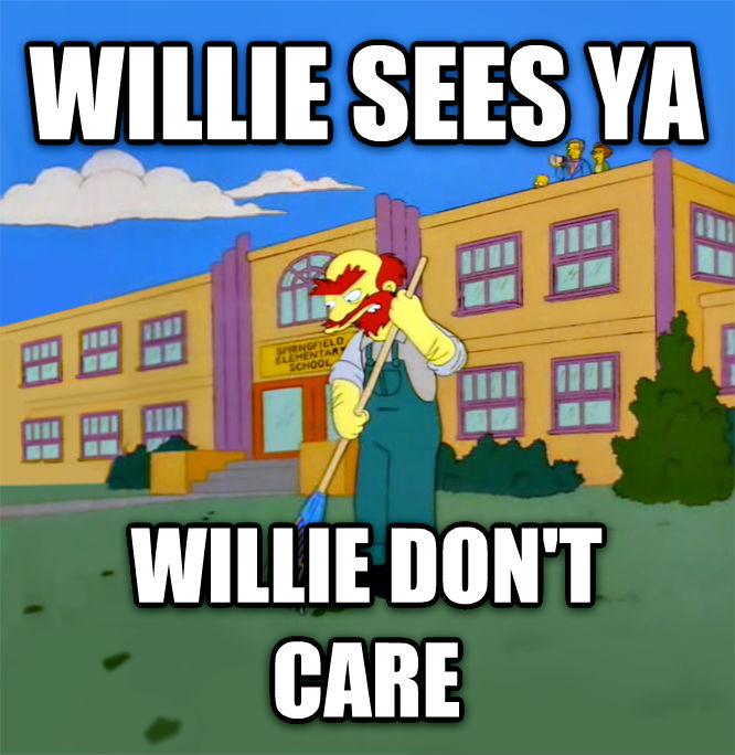 Willie Hears Ya, Willie Don t Care willie sees ya willie don t care , made with livememe meme maker