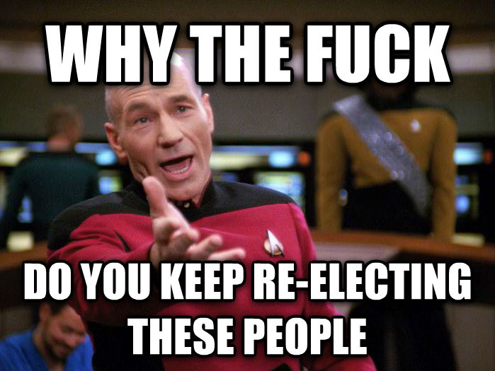 Annoyed Picard 1080p why the heck  do you keep re-electing these people , made with livememe meme creator