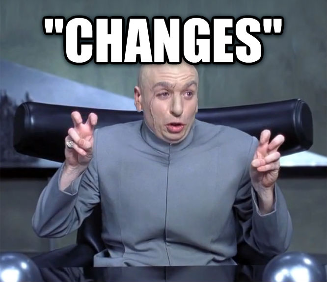 Dr. Evil  Quotation Marks   changes   , made with livememe meme maker