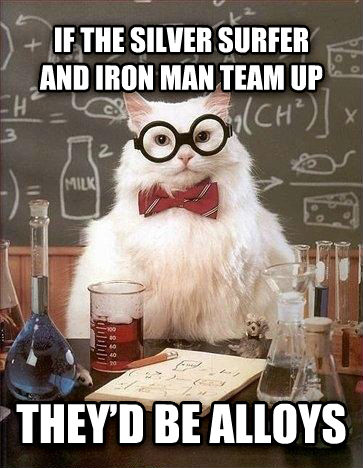untitled meme if the silver surfer and iron man team up they   d be alloys , made with livememe meme maker