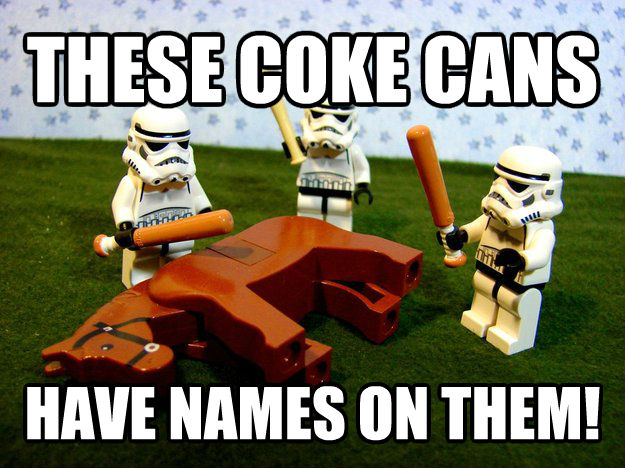 Give Me Karma these coke cans have names on them! , made with livememe meme creator