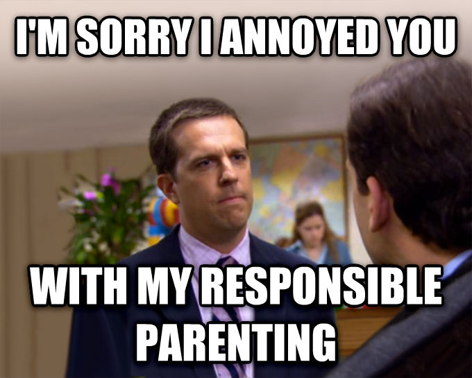 Sorry I Annoyed You With My Friendship i m sorry i annoyed you with my responsible parenting , made with livememe meme maker