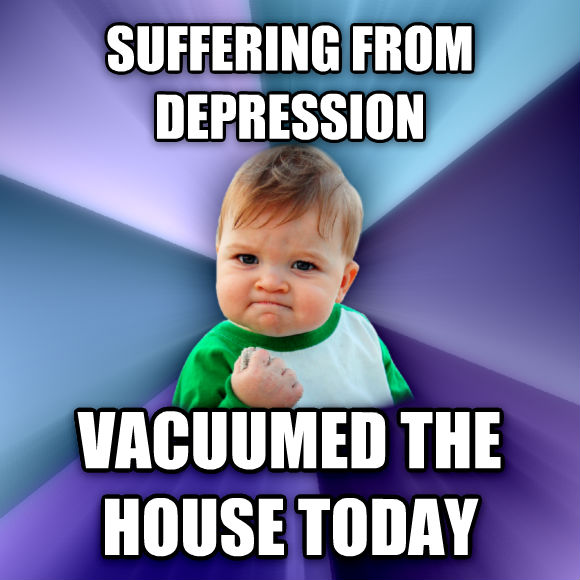 Success Kid suffering from depression vacuumed the house today  , made with livememe meme creator
