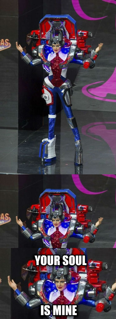 Scary Autobot Lady your soul is mine , made with livememe meme creator