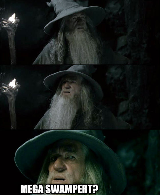 Confused Gandalf - I Have No Memory Of This Place  mega swampert? , made with livememe meme creator