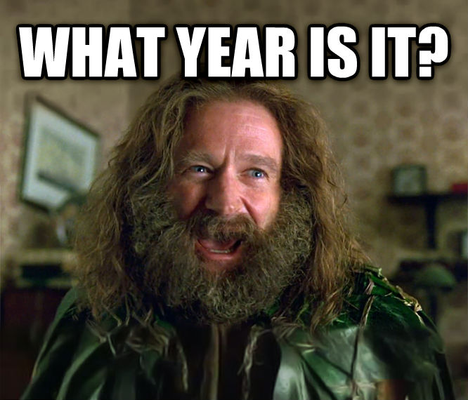What Year Is It? (Jumanji) what year is it?  , made with livememe meme generator