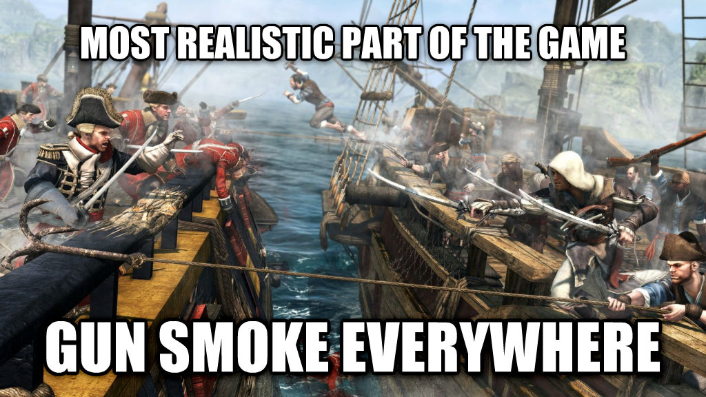 untitled meme most realistic part of the game gun smoke everywhere , made with livememe meme generator